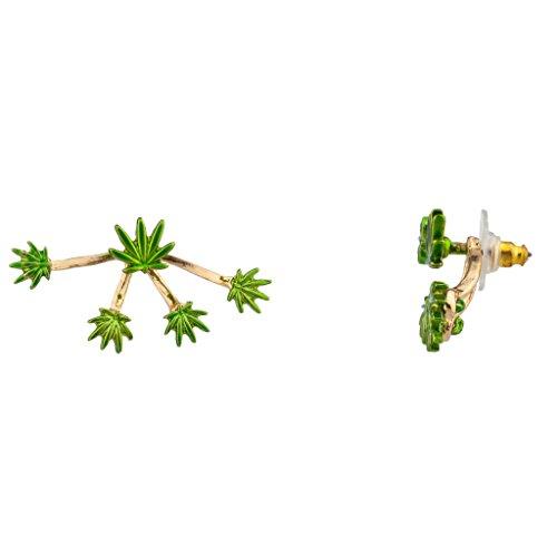 LUX Zubehör Marihuana Weed 420Pot Leaf Lenker Radaufhängung Ohrstecker Pot Leaf