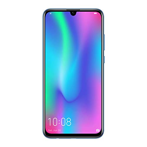 Honor 10 Lite, Smartphone débloqué, 4G (6,21 Pouces, 64 Go, 3Go RAM, Double Nano SIM ou Nano SIM + Micro SD, Android P) Bleu [Version française]