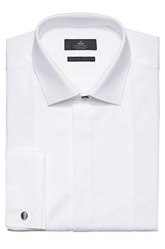 next Uomo Camicia Elegante Bianca Con Pettorina Anteriore Bianco EU 41 Regular