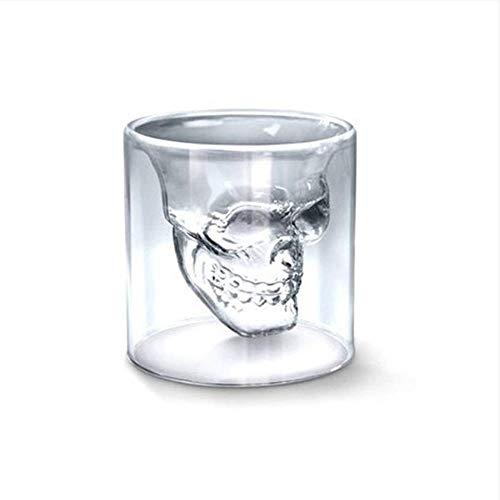 Womat Skull Verre à vin Tasse de bière en Cristal personnalité Bar créatif Double Transparent 250ml