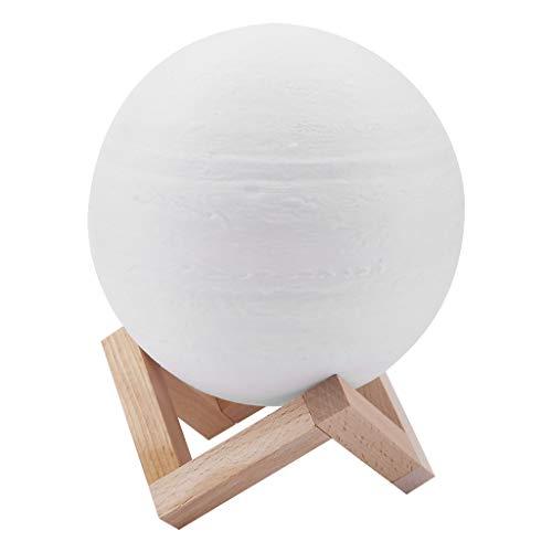 Tianya - Nachtwechsel Des Lichts, 3D-Druck In Form Von Jupiter, Kreative Wiederaufladbare Lampe (A)