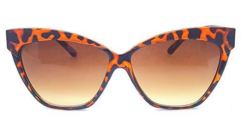 Lolablossom Cat Eye Sonnenbrille Oversize 50er Jahre Retro Rockabilly Pinup (leo braun)