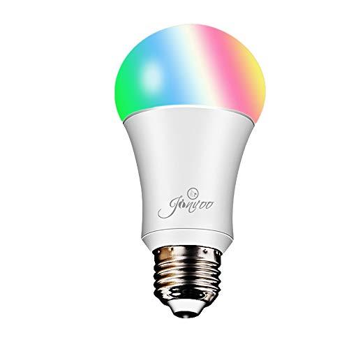 2 bombillas multicolor inteligentes Jinvoo WiFi E27 compatibles con Alexa por sólo 8,99€