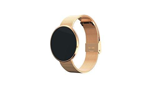 Daran Erinnern S15Smart Armband zu überwachen die Bewegung von Blutdruck und Herzfrequenz Sauerstoff Bluetooth Armband Touch Disc Wetter, 1. Blut Druck Test; 2. Milan Nice Strip/Leder Uhrenarmband; 3. Schrittzähler, Schlaf-Erkennung; 4. energiesparender Bluetooth 4Konnektivität; 5. OLED-Display; 6. Slim Design, angenehm zu tragen., goldfarben