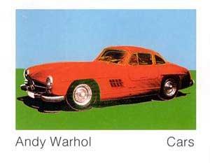 "Kunstdruck / Poster: Andy Warhol ""Cars, 300 SL Coupé, Bj. 1954"" - hochwertiger Druck, Bild, Kunstposter, 140x109 cm"