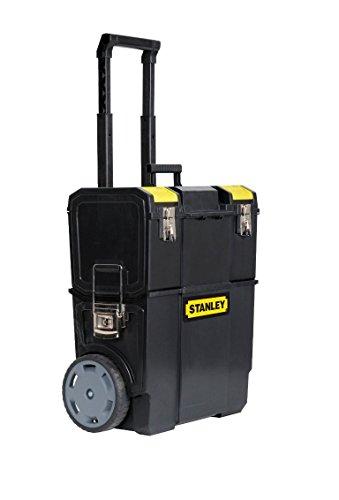 Stanley Mobile Werkzeugbox (2-in-1 Variante mit abnehmbarer Werkzeugbox, robuster Teleskopgriff) 1-70-327