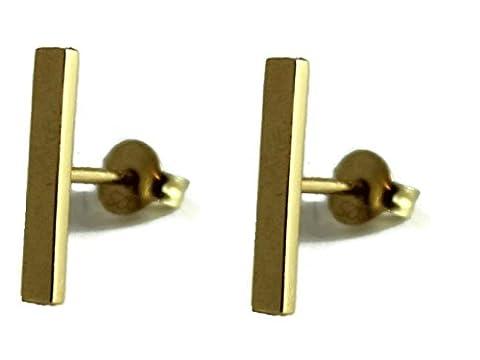 Boucles d'oreille Clous en Argent Sterling plaqué or Bar Stick de Sophia Rose