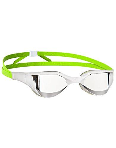 Mad Wave Razor Mirror Schwimmbrille, weiß/grün, Uni-Size