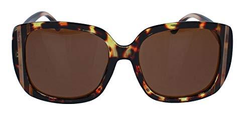Große Retro Sonnenbrille für Damen im Vintage Look der 60er 70er Jahre Square Frame rechteckig oversized JK21 (Havana)
