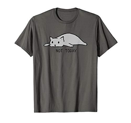 Cat Damen Rosa T-shirt (Nope Not Today Lazy Cat| funny lazy cat design T-Shirt)