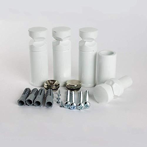 Universal-Halterungen für beheizte Handtuchstangen, für gerade und gebogene Modelle, weiß -