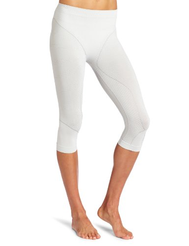 Spyder Damen Seamless Compression Capri Base Layer Hose, damen, weiß / silber