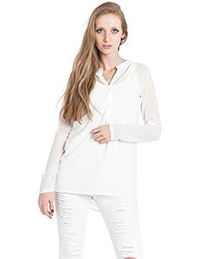 [Patrocinado]Abbino 4745 Blusas Tops Para Mujer - Hecho EN Italia - 2 Colores - Entretiempo Primavera Verano Otoño Mujeres...