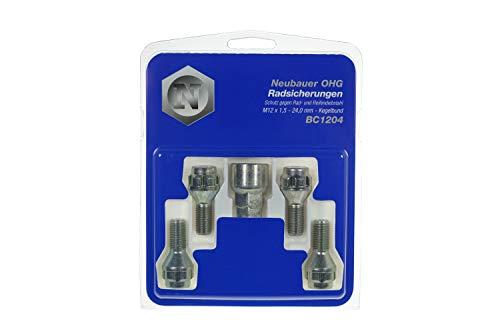 4 vis antivol 12x150 L2-24 - Coniques - Cle 17/19 - LOKNOX BC1204