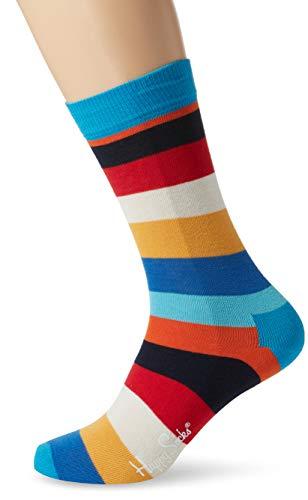 Happy Socks Herren Stripe Socken, Mehrfarbig (Multi Dodger Blau 6008), One Size (Herstellergröße: 41-46) -