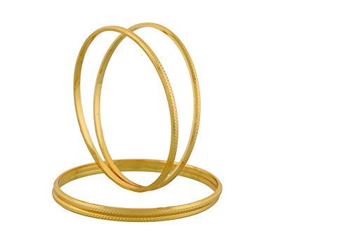 Jewbang Gold Plated Imitation 4 Bangles 28 Size For Women-JB406B