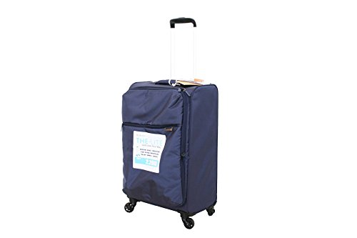 Trolley 4 Ruote UltraLeggero Pellicano CRISS Medio Blu Espandibile, Etichetta porta nome e Lucchetto TSA per Stati Uniti in Omaggio!