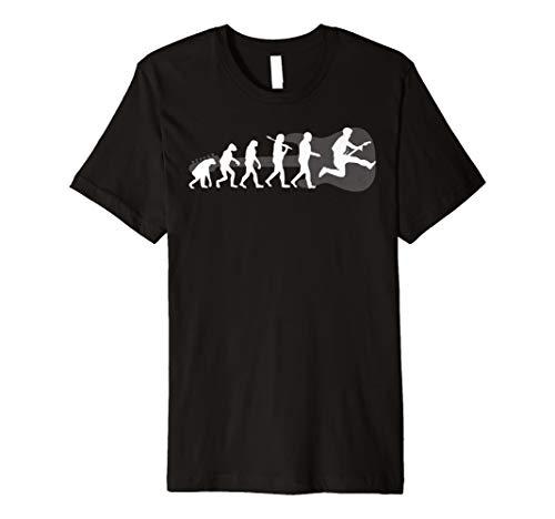 Gitarren Musik Evolution Lustiges Musiker Fun T Shirt -