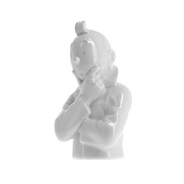 Moulinsart Busto de Porcelana Tintín pensativo Brillante 12cm - 44201 (2015) 1