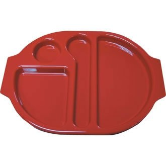 Kristallon u037 Compartiment alimentaire Plateaux, rouge (Lot de 10)