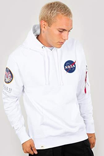 Alpha Industries Men Hoodie Apollo 11, Größe:S, Farbe:White