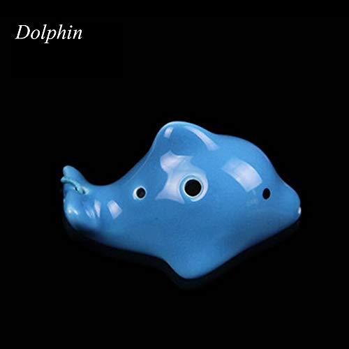 ZQWJ Ocarina 4 Loch/Tragbare Keramik Musikinstrument/Kinderspielzeug Fischform (Kaufen 1 Erhöhen 1, Geschenk Random),A1
