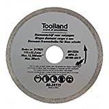 TOOLLAND–bd20125Disque à tronçonner diamant, continu, Lot de 125mm de diamètre (100)