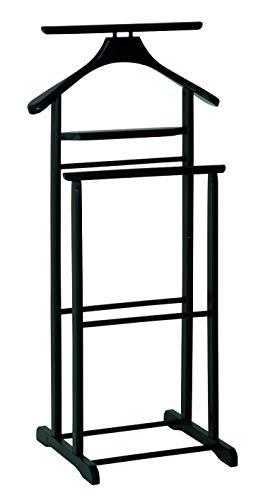 Haku Möbel Herrendiener - aus schwarzem Massivholz mit Hosenbügel H 102 cm