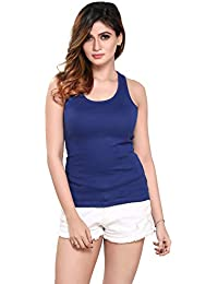 pdpm Womens Hosiery Blue Coloured Raceback Tank Top Slip Camisole ae35c2c05