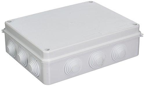 ABS blanc 12 trous-Boitier étanche IP65 Boîte de jonction 255 x 200 x 80 mm