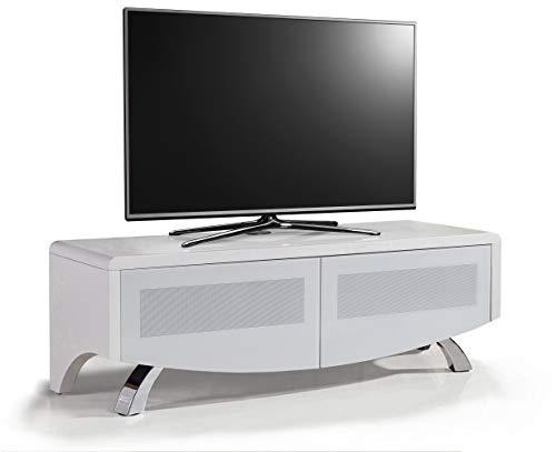 MDA Designs WAVE 1200 Satin White with White Glass Hybrid BeamThru Remote-Friendly 32