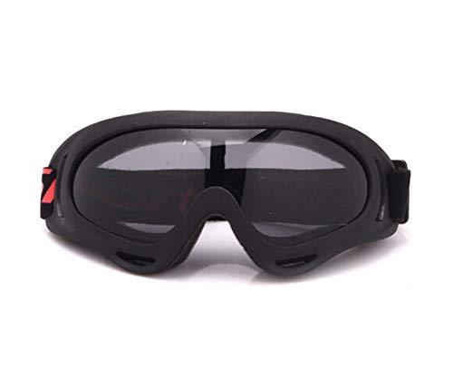 MaxAst Brille Winddicht Unisex Brille Motorrad Winddicht Arbeitsbrille für Brillenträger Schwarz