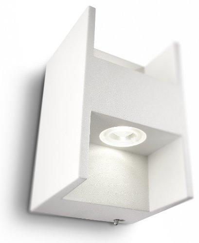 Philips Ledino Lampadario da Parete LED 2x 2.5 W, Lampadina Inclusa, max 2.5 W