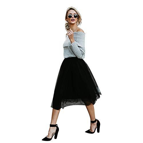(Aiserkly Damen Tutu Unterkleid Abschlussball Abend Gelegenheit Zubehör Mode Rockhohe Taillen Normallack Rock)