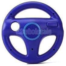 SLB Works Brand New Blue Racing Game Steering Wheel For Nintendo Wii Mario Kart Remote Controller