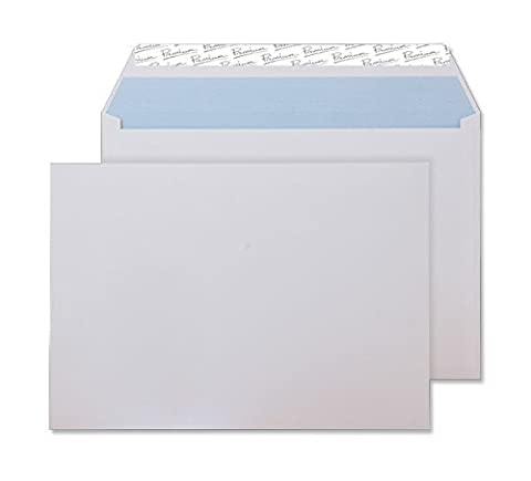 Premium Office C5 162 x 229 mm Peel and Seal Wove Wallet - Ultra White (Pack of 50)