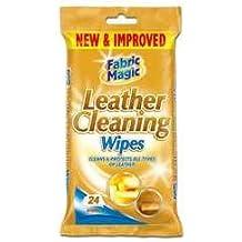 151 Products - Set de 2 paquetes de toallitas para limpiar cuero (cada paquete de 24 unidades), limpia y protege sofás, canapés, asientos del coche, muebles