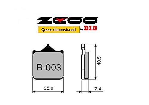 45B00300 PASTIGLIE FRENO ZCOO (B003 EX) PINZA / CALIPER BREMBO M4/P4 - DISCACCIATI 0- (ANTERIORE)