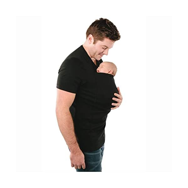 G&F Women Maternity Kangaroo T-Shirt Baby Holder Pocket Cotton Soft Carrier (Size : XXL) G&F ♣Material:66% polyester / 32% rayon / 2% spandex ♣Easy-to-use pouch calms newborns. No wrapping, adjusting, or tying -- just slip baby in the pouch ♣Mom can enjoy their newborns and take babies on adventures right from the start 7
