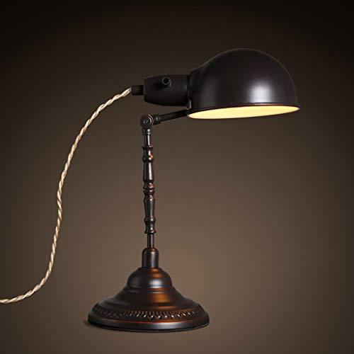 Lampada da comodino vecchio stile antico lampada da scrivania lampada da comodino in ferro battuto di antiquariato