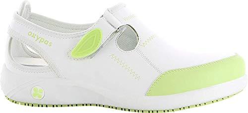 Oxypas Move Komfortabler Berufsschuh Lilia Antistatisch (ESD) in Vielen Farben (40, weiß-grün)