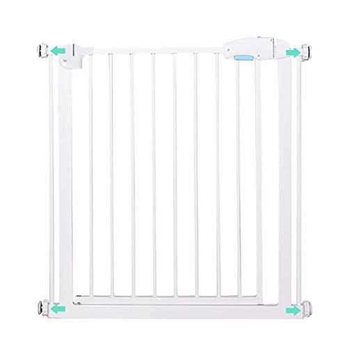 PNFP Metall Baby Tore for Treppen und Flur, Wall Protector Safety Pet Gates mit Hund Katze Tür, passt 76-84cm breit, weiß (Hund Protector Tür)