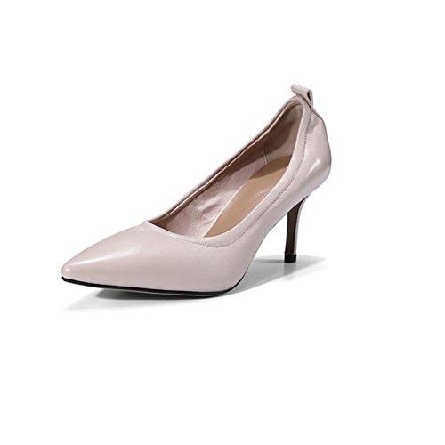 YIXINY Escarpin Sweet Talons Hauts Chaussures Pour Femmes Pointu Bouche Peu Profonde Travail Loisirs Sauvage Talon 5cm