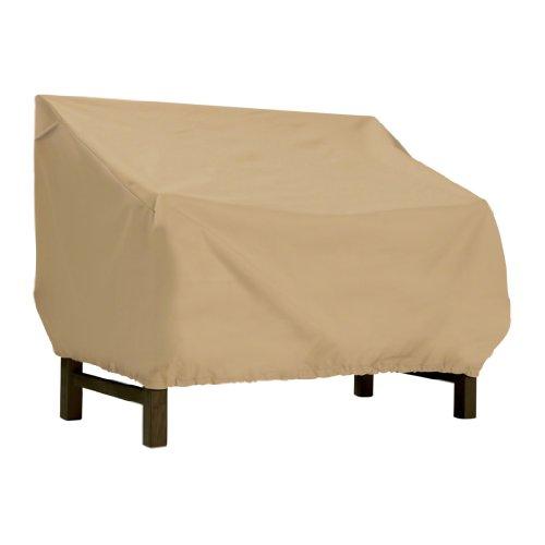 Classic Accessories Terrazzo Terrassenbank/Loveseat Abdeckhaube, Sand für Bänke oder Liebetische bis 75 Zoll lang, 81 cm breit, 79 cm hoch X-Large