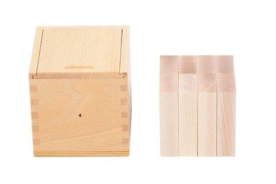 KLEINKINDSPIELZEUG Gabe 4 für Krippenkinder Inhalt: 8 Quader (50 x 25 x 12,5 mm) NEU Holzquader Holzwürfel