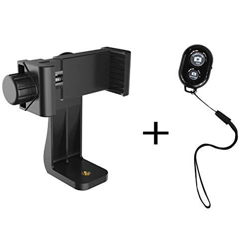 KTELE Handy-Stativ-Adapter, Universal-Smartphone-Halterung, Stativ-Adapter & Bluetooth-Kamera-Fernbedienung für alle Smartphones