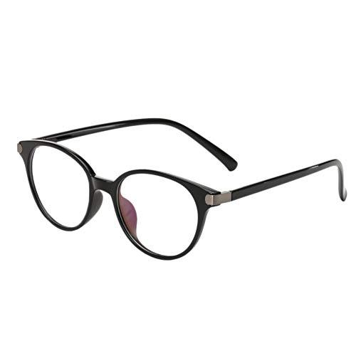 Meijunter Blue Light Blocking Brille - Gläser für Spiel Phones Lightweight Goggle Katze Auge Rahmen Klar Linse Vintage Männer Frau Eyewear (Helles Schwarz)