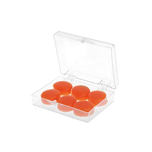 JimTw-UK Ohrstöpsel, Silikon, weich, wasserdicht, Anti-Geräusch-Ohrstöpsel, für Schwimmen, Duschen, Wassersport, 6 Stück