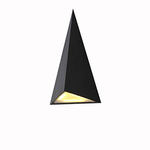 ZOUQILAI LED Outdoor Wasserdichte Wandleuchte Aluminium Dreieckige Wandleuchten Hof Lichter Gang Balkon Wandleuchte Schwarz