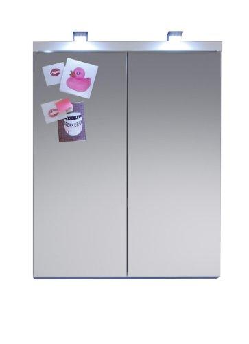 trendteam NL50301 Badezimmerspiegelschrank Weiß Nachbildung, BxHxT 65x80x21 cm